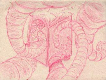 Creative Tendrils: Pencil on Handmade Paper