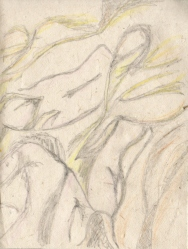Torsos in the Afternoon: Pencil on handmade Paper