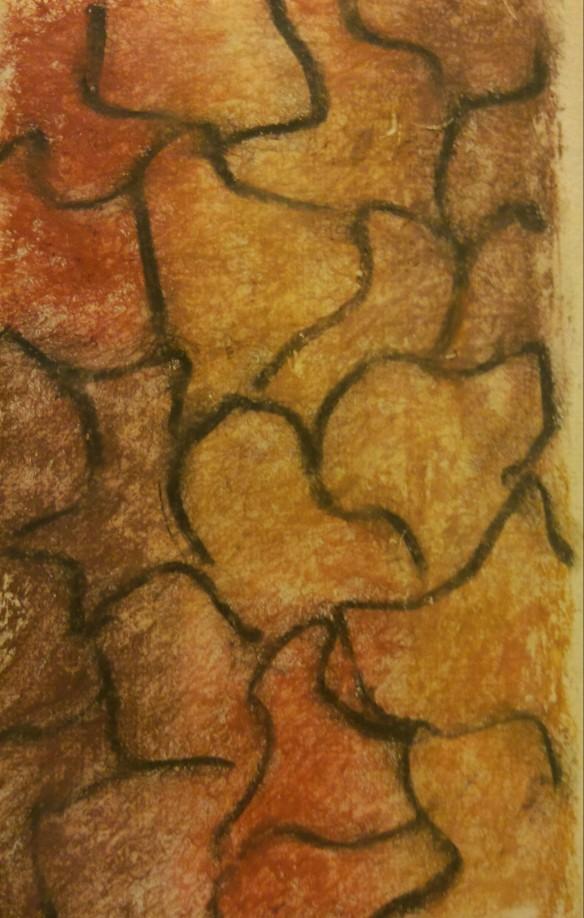 Cobblestones: pastel on handmade paper
