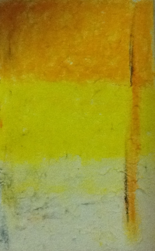 Warmth: pastel on handmade paper