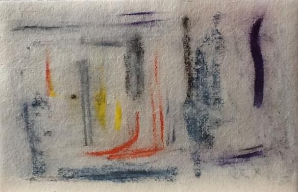 Forgotten Dreams: pastel on Handmade Paper