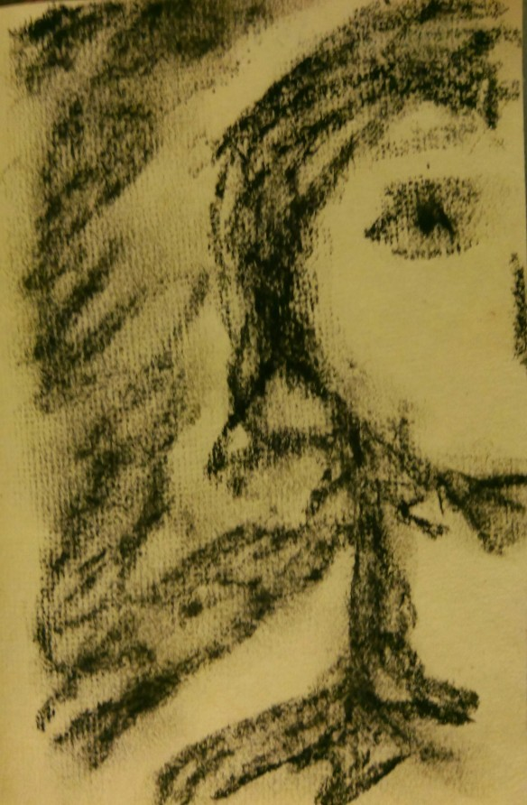 Why: charcoal on handmade paper