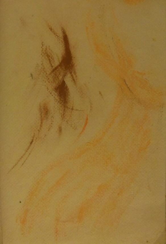 Soft Flutterings: pastel on handmade paper