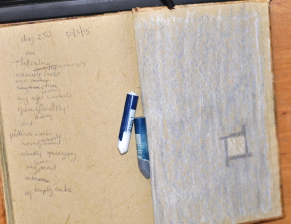 Journal View - Pastel on Handmade Paper