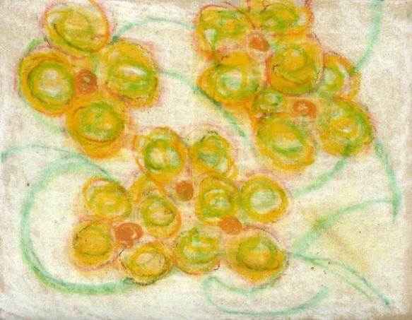 Soft Pastel & Oil Pastel on Handmade Paper