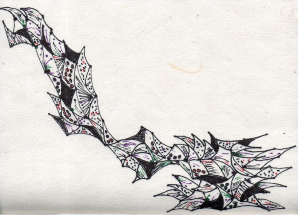 Dawn Whtehand Pen on Handmade Paper
